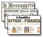 Bruno Editore su Il Messaggero, La Repubblica, Il Corriere